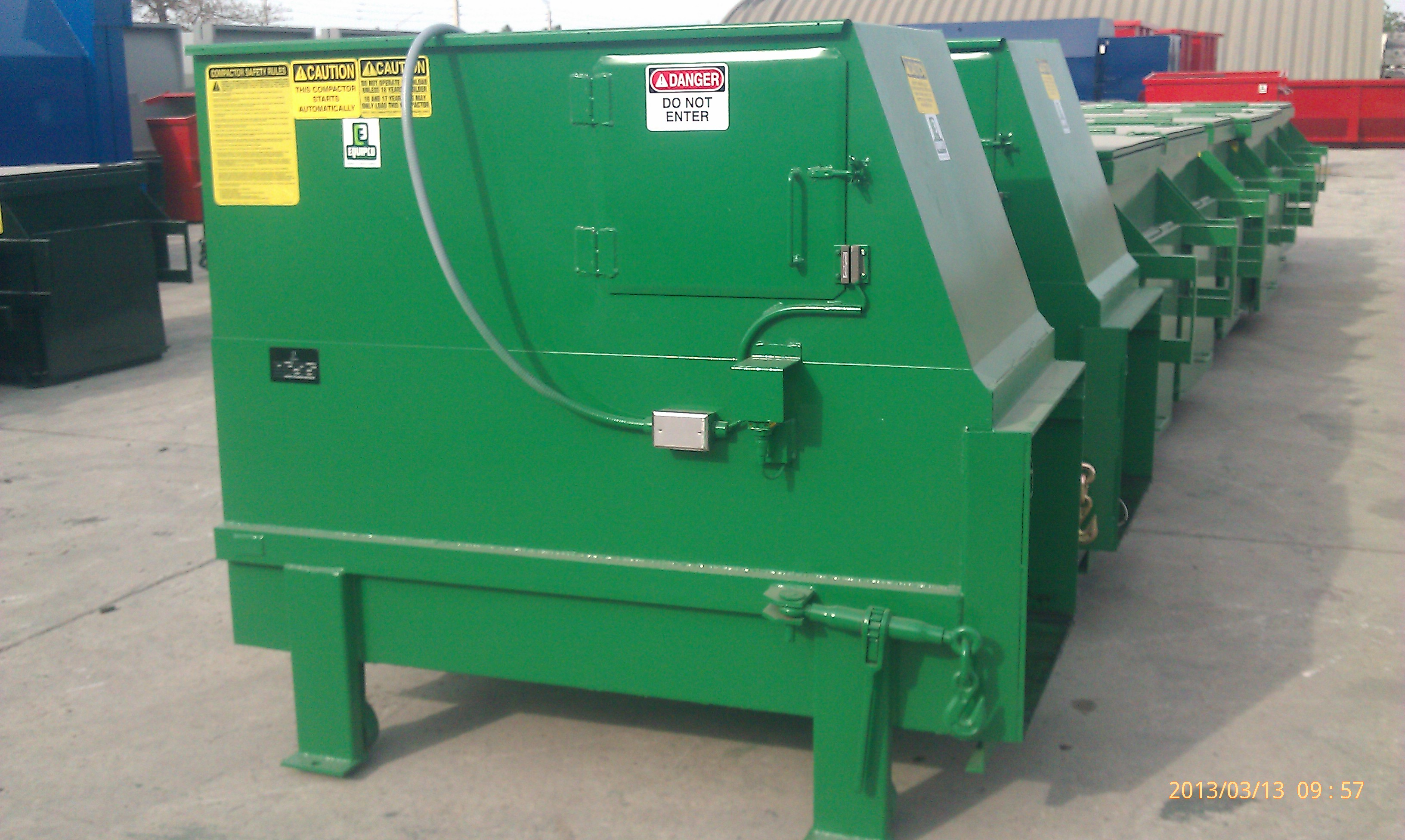 Four basic waste compactor automatic electronic control inc Garbage compactor